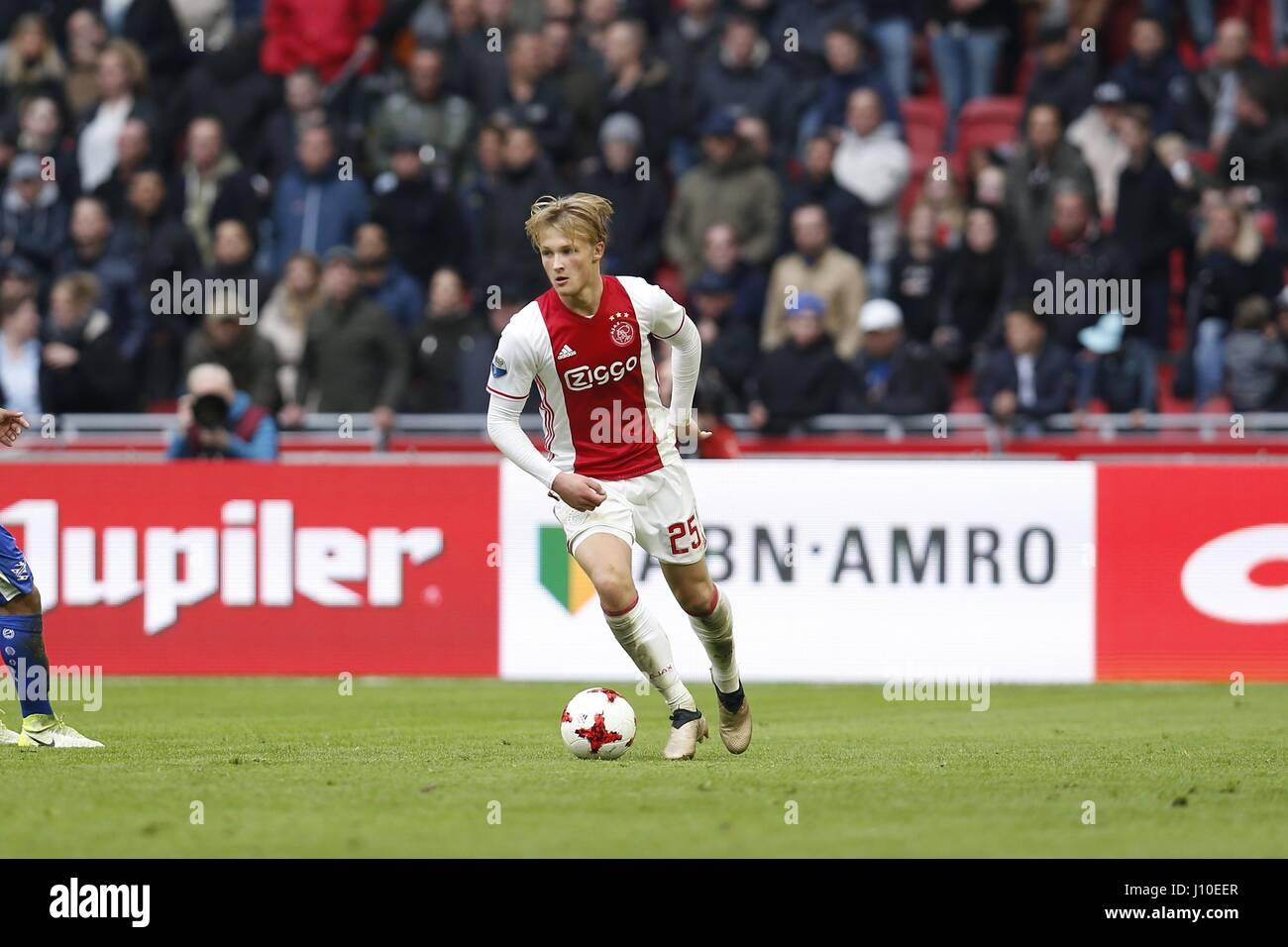 Kasper Dolberg (Ajax), APRIL 16, 2017 - Football / Soccer : Dutch 'Eredivisie' match between AFC Ajax 5 - Stock Image