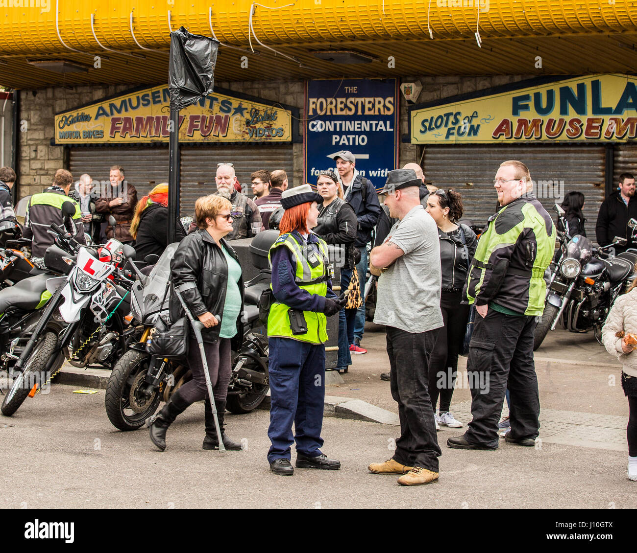 Southend-on-Sea, Essex, UK. 17 Apr 2017. The Annual Southend Shakedown has been running for the past 18 years.  - Stock Image
