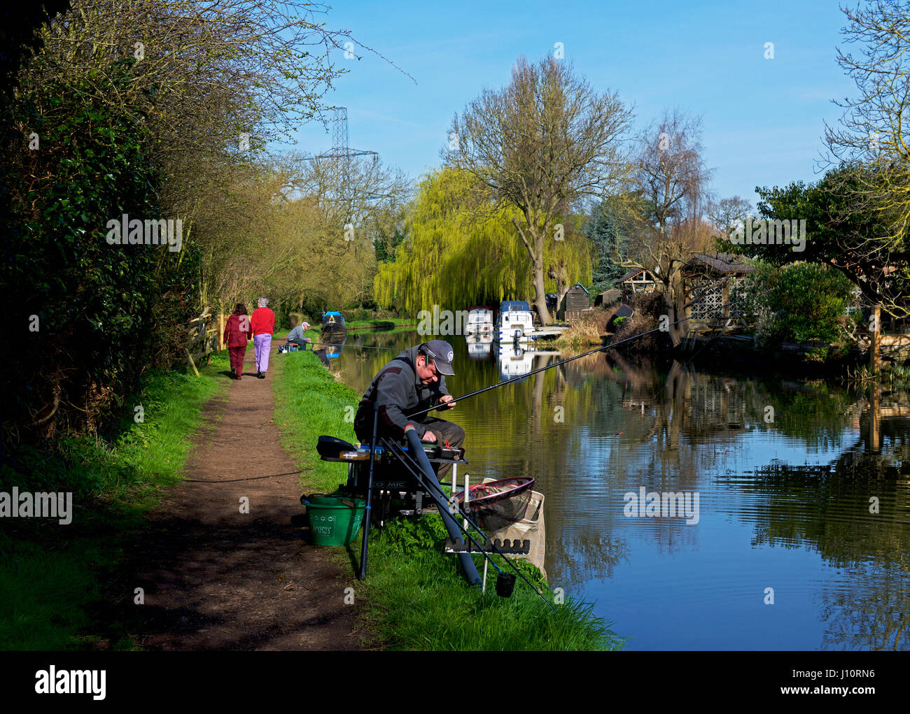 The River Soar at Barrow upon Soar, Leicestershire, England UK - Stock Image