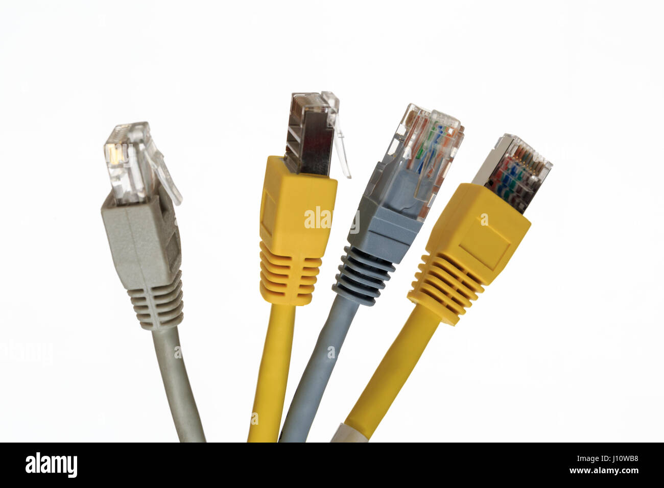 Rj45 Stock Photos Images Alamy Telecom Wiring Diagram Four Telecommunication Cable With Connector Image