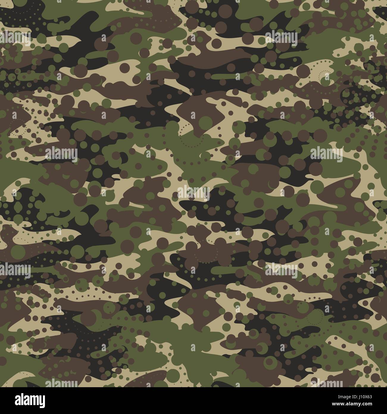 Camouflage and halftone pattern background seamless, mask clothing print. Repeatable camo vector. Dazzle paint masking - Stock Image