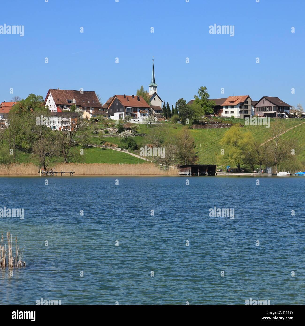 Lake zurich switzerland village stock photos lake zurich for Innendekoration pfaffikon zh
