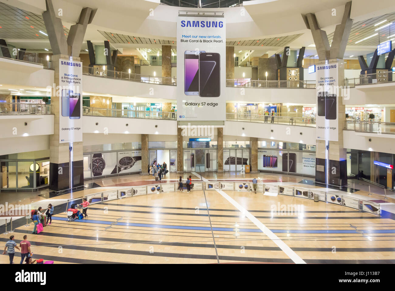Arrivals Hall at OR Tambo International Airport, Johannesburg, Gauteng Province, Republic of South Africa - Stock Image