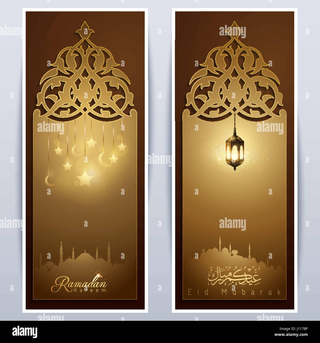 Islamic vector design eid mubarak greeting template roll up banner islamic vector design eid mubarak greeting template roll up banner background with arabic lantern glow star and crescent m4hsunfo