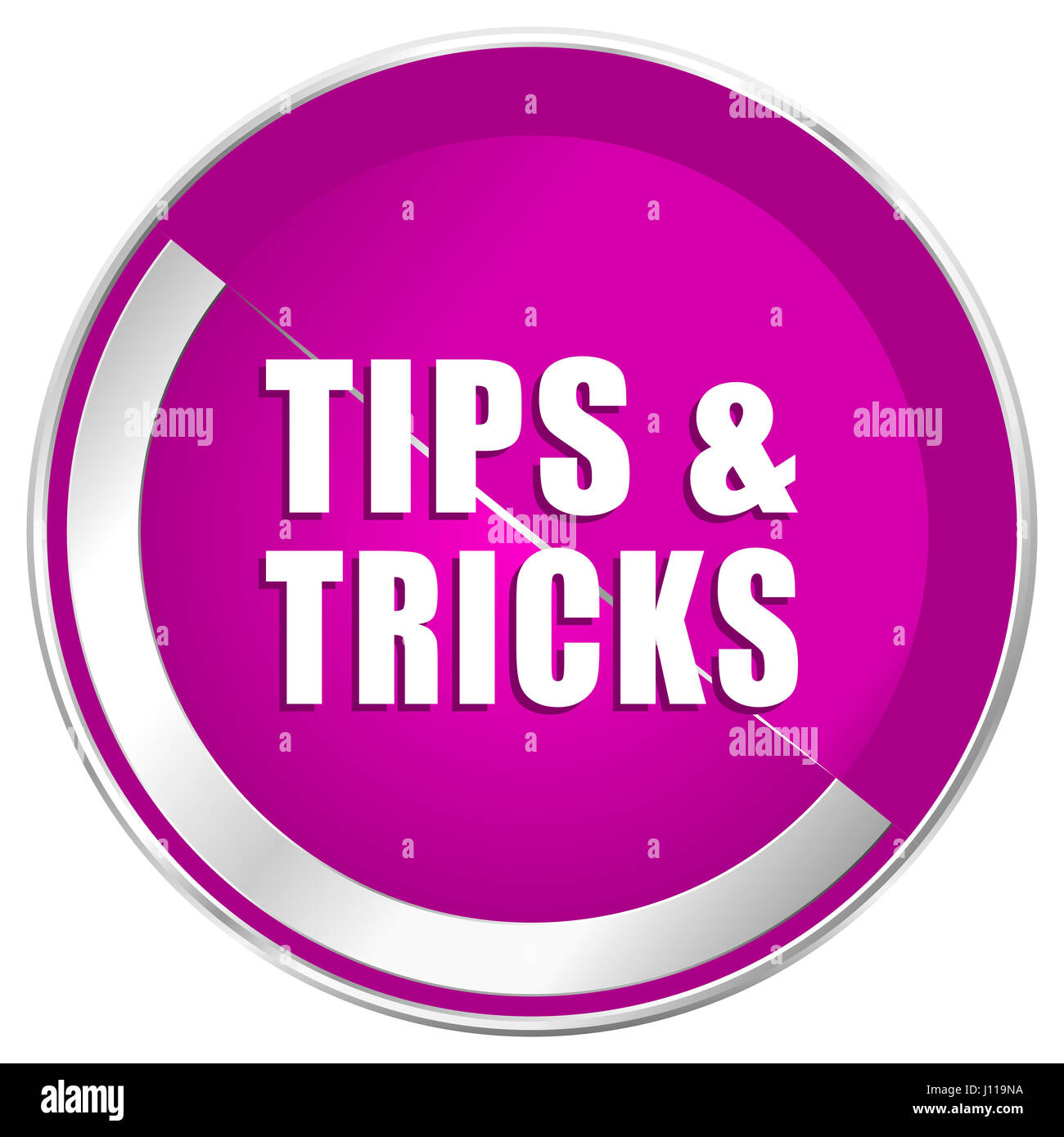 Tips Tricks Web Design Violet Silver Metallic Border Internet Icon Stock Photo Alamy