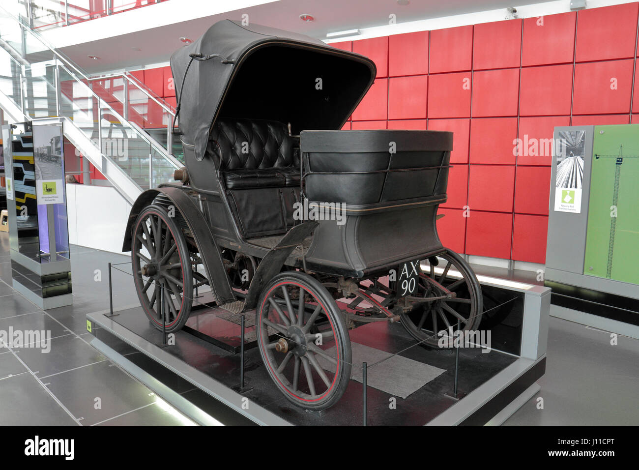 A Benz 'Duc' motor car on display in the National Waterfront Museum, Swansea, Wales. - Stock Image