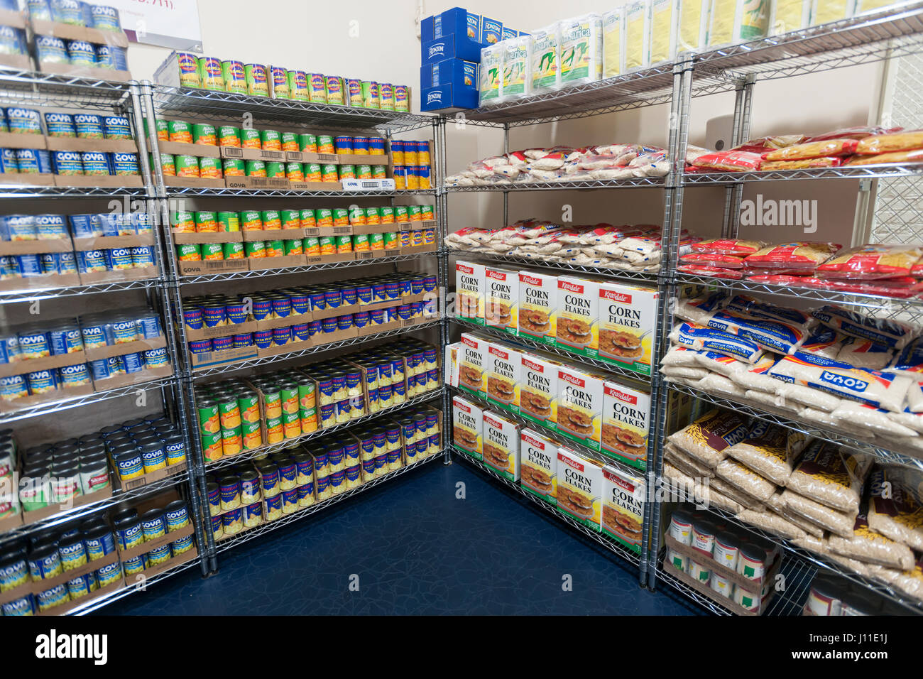 Catholic Charities Bronx Food Distribution Center in New York on Holy Thursday, April 13, 2017. The distribution - Stock Image