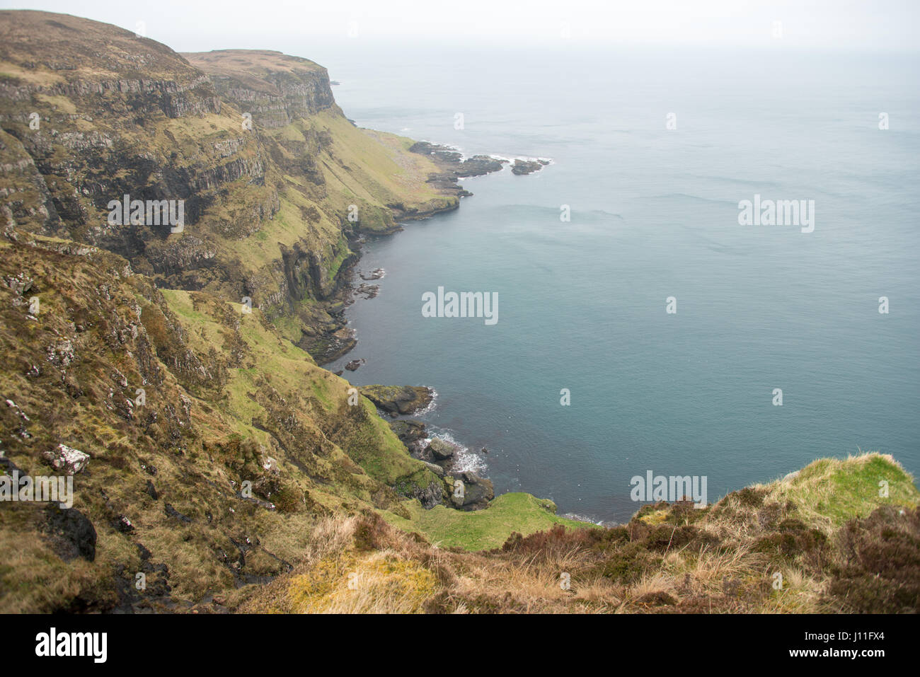 Cliffs on the north coast of the Island of Canna, inner hebrides, Scotland. - Stock Image