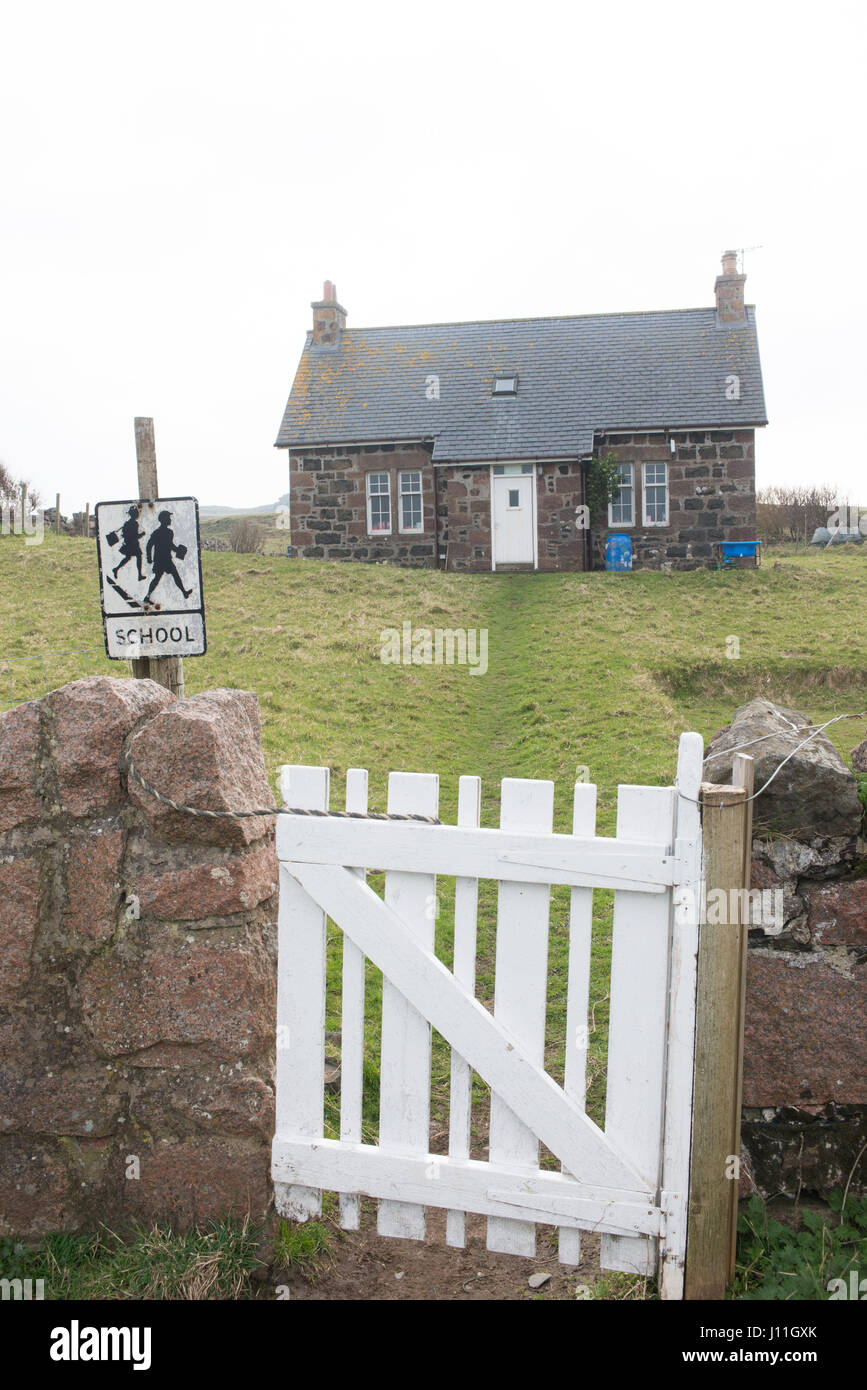 The primary school on the Island of Sanday which also serves Canna , Inner Hebrides Scotland ( 3 pupils as of 2017) - Stock Image