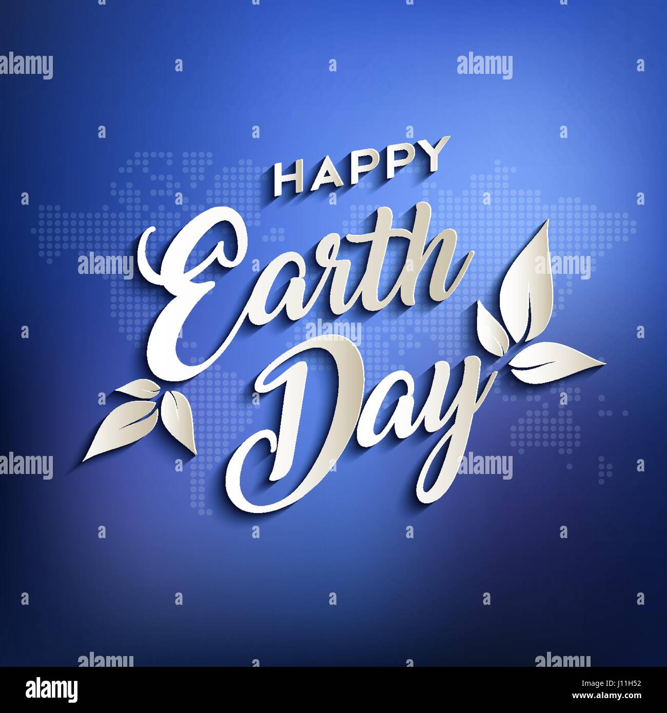 happy earth day design for environment care typography quote