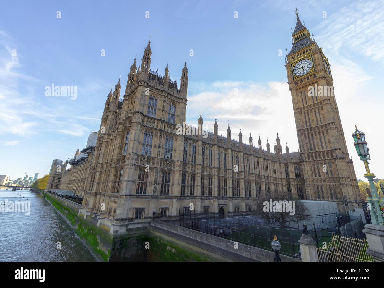 Famous landmark of Big Ben and Parliament in the City of Westminster in London, England, United Kingdom. - Stock Image