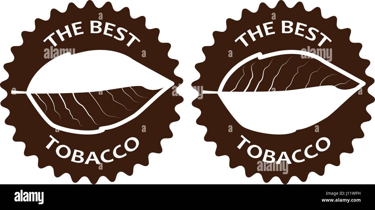 tobacco - the best - sticker - vector illustration - Stock Vector