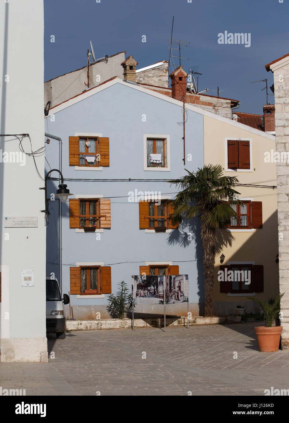 Stadtbild Fasana, Fischerdorf Fažana (italienisch Fasana), Istrien,Kroatien - Stock Image