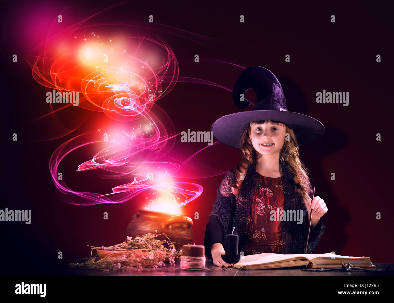 Little witch - Stock Image