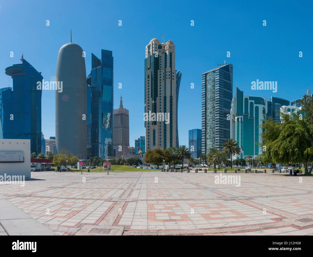 Downtown Doha, Qatar Stock Photo