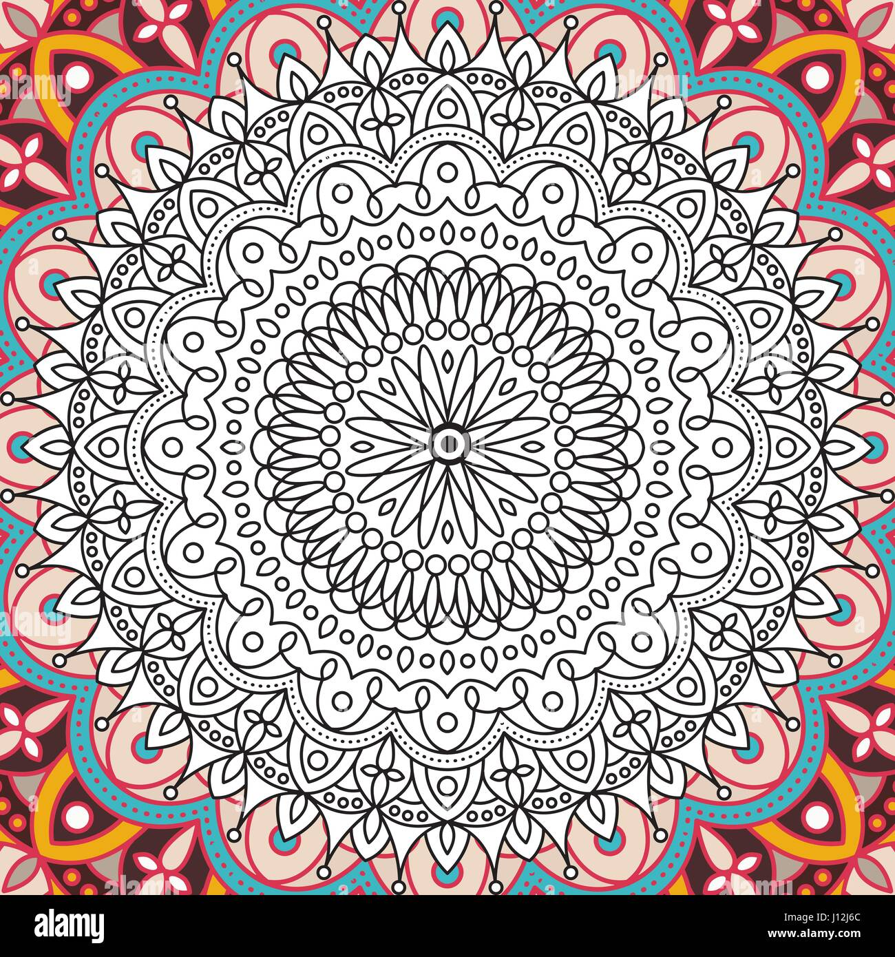 Printable Coloring Book Page For Adults Mandala Design