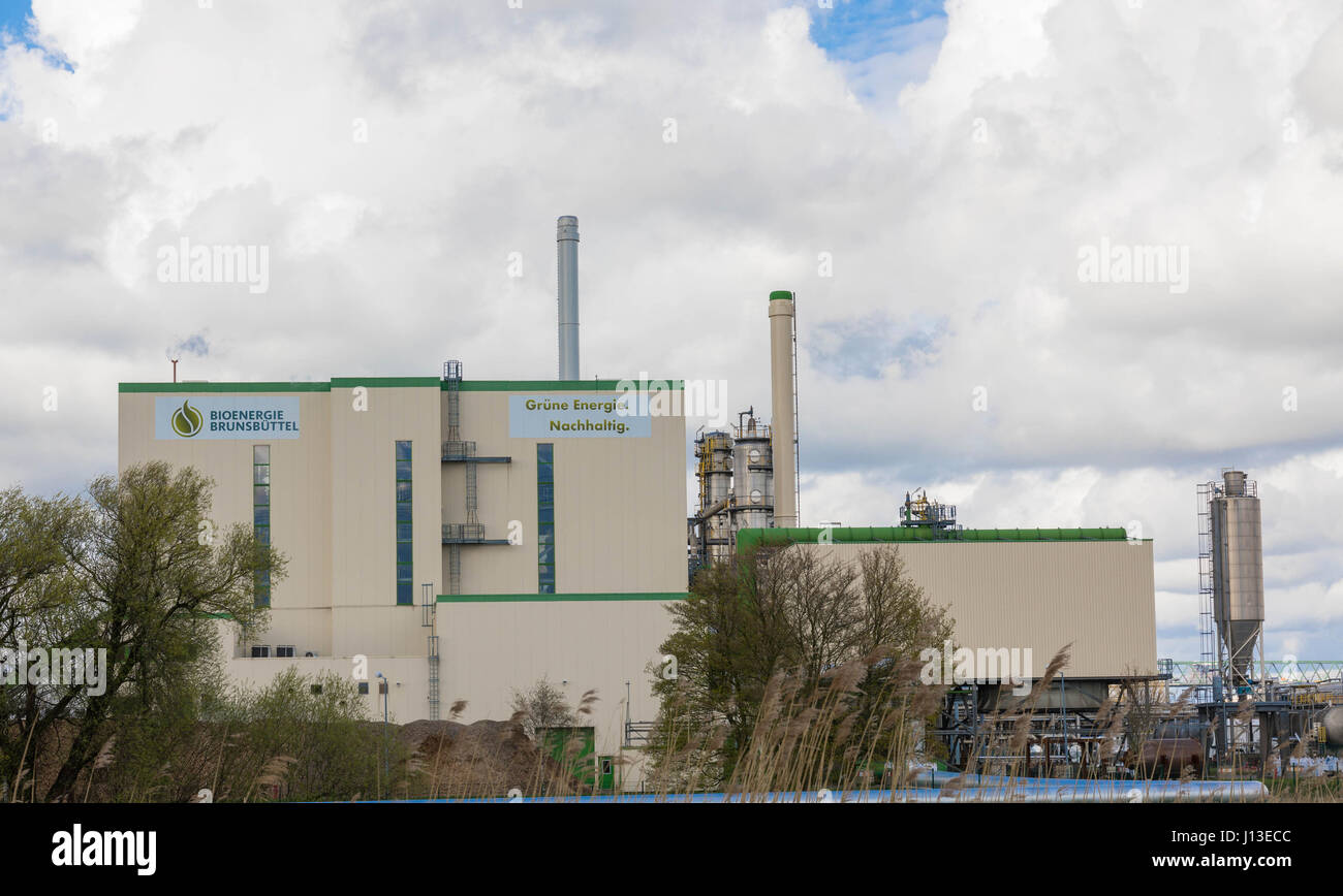 Brunsbuettel, GERMANY - April 16, 2017:Bio Energy Brunsbuettel - Biomass power plant Stock Photo