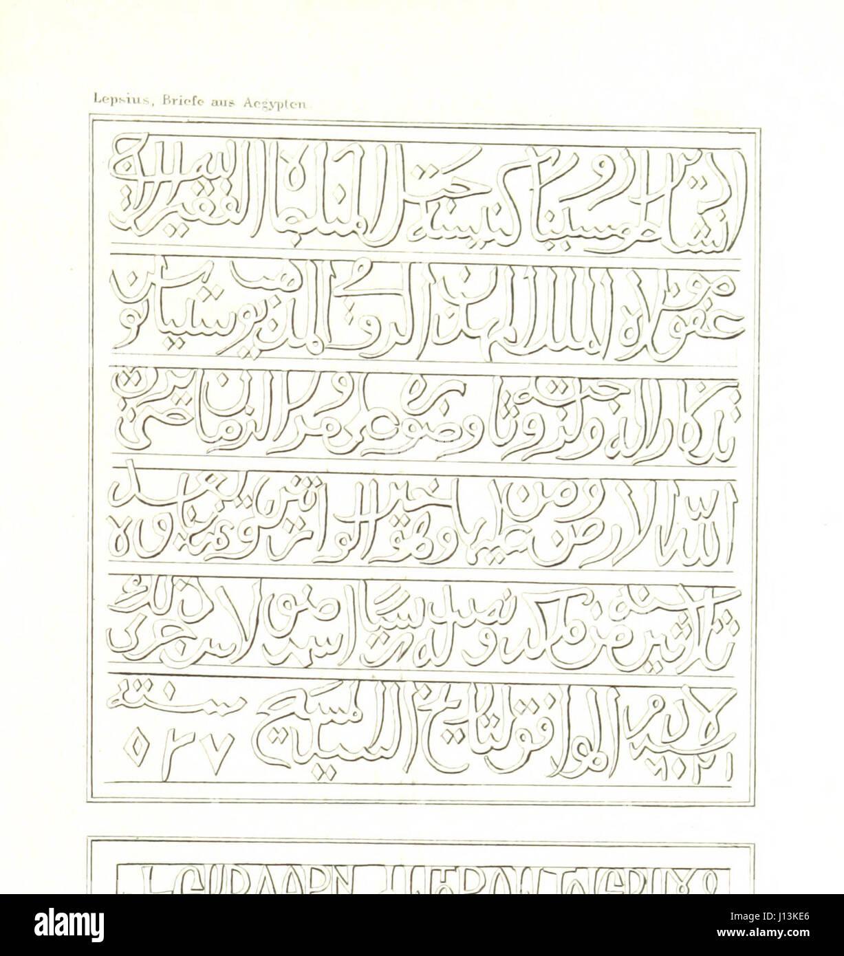 Briefe aus Ægypten, Æthiopien, und der Halbinsel des Sinai, geschrieben in den Jahren 1842-1845, etc - Stock Image