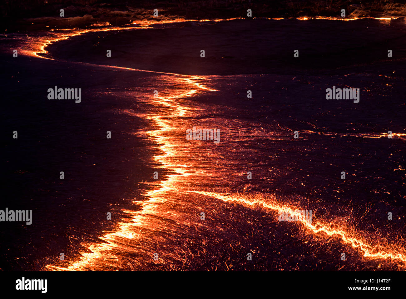 AFAR REGION, ETHIOPIA: HAVE YOU ever wondered what it must look like to stare into the depths of hell? Pictures - Stock Image