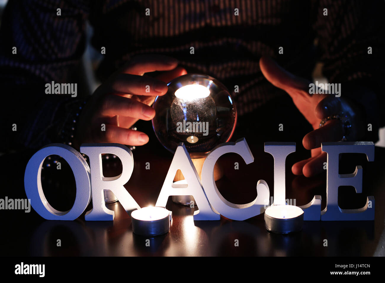 oracle guessing future - Stock Image