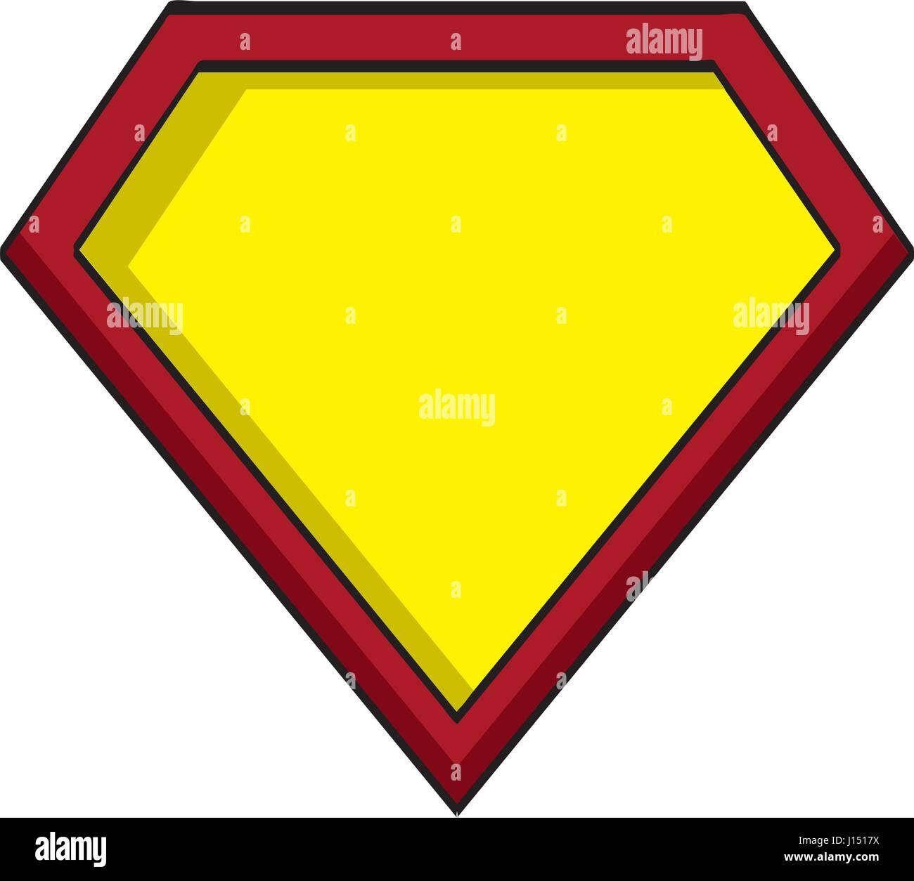 hero shield isolated icon - Stock Vector