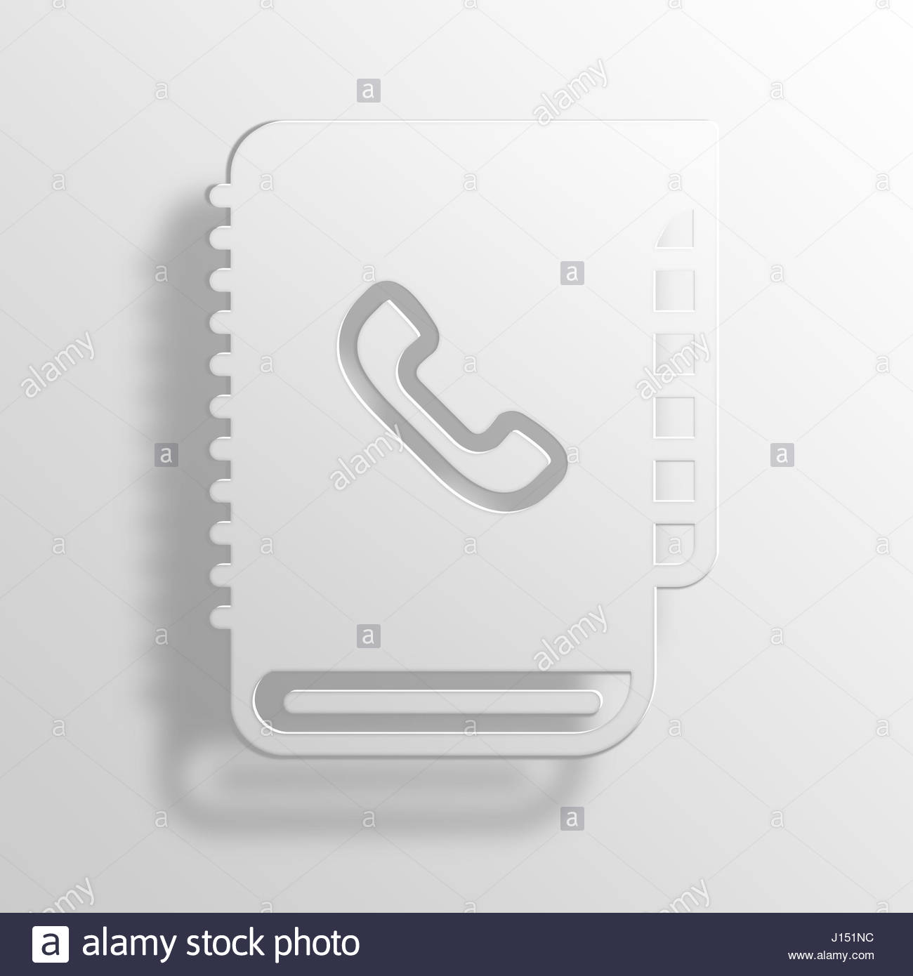 Contact Book 3d Paper Icon Black And White Stock Photos Images Alamy