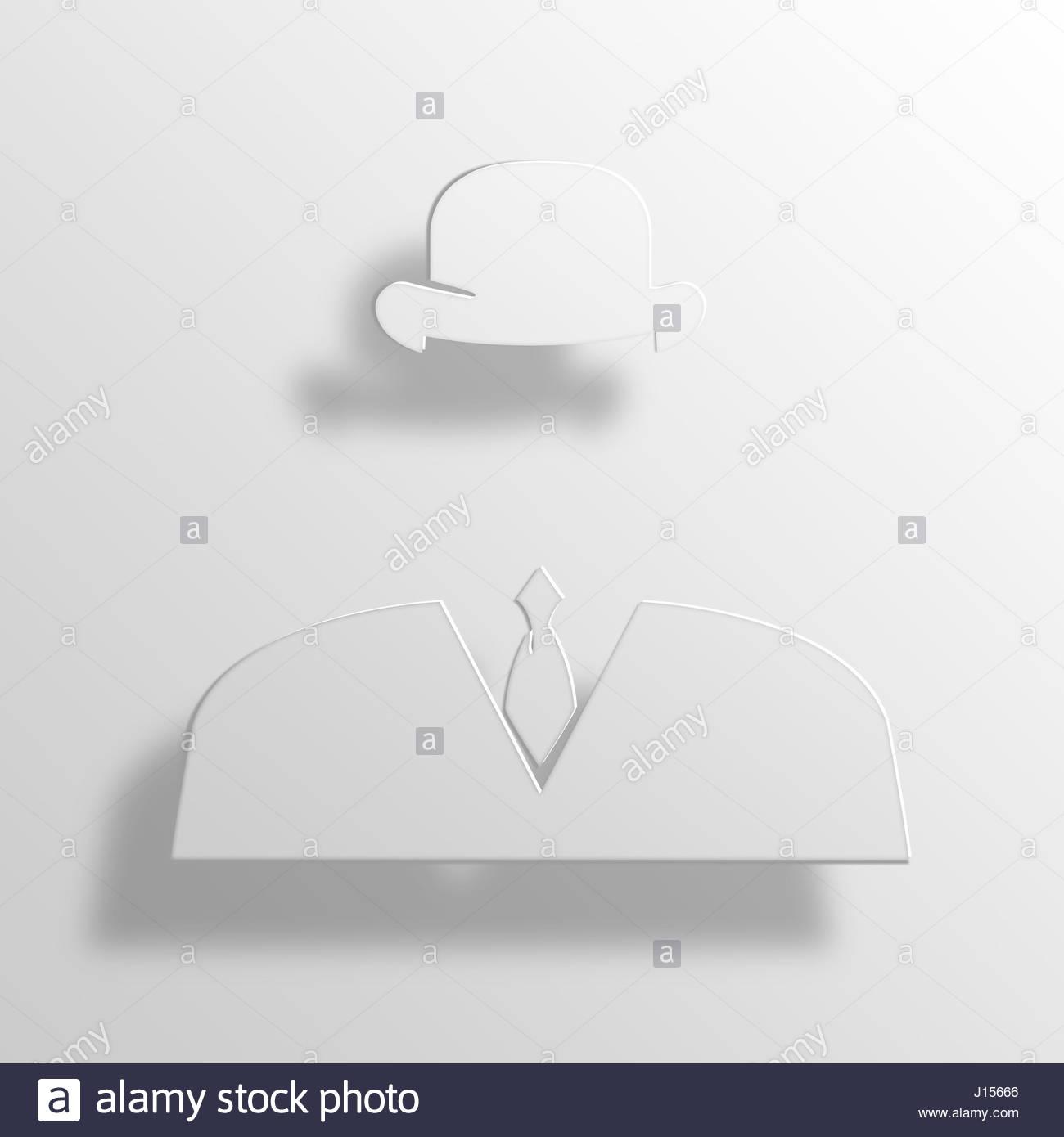 Invisible 3d Paper Icon Symbol Business Concept No554 Stock Photo