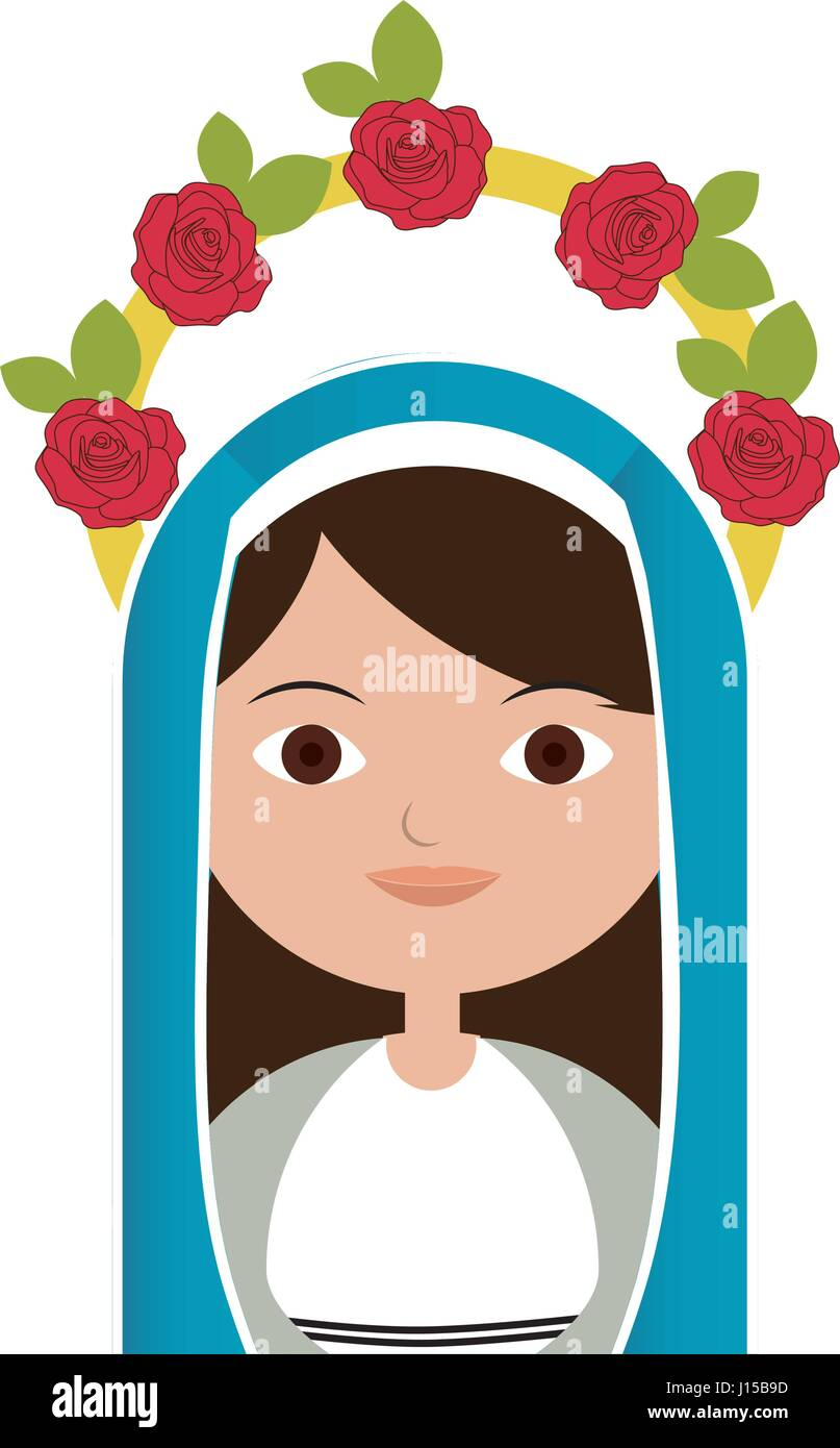 White Background Of Half Body Beautiful Virgin With Crown Of Roses Stock Vector Image Art Alamy Collection set of various shape crown logos in a cartoon style design on white background. alamy