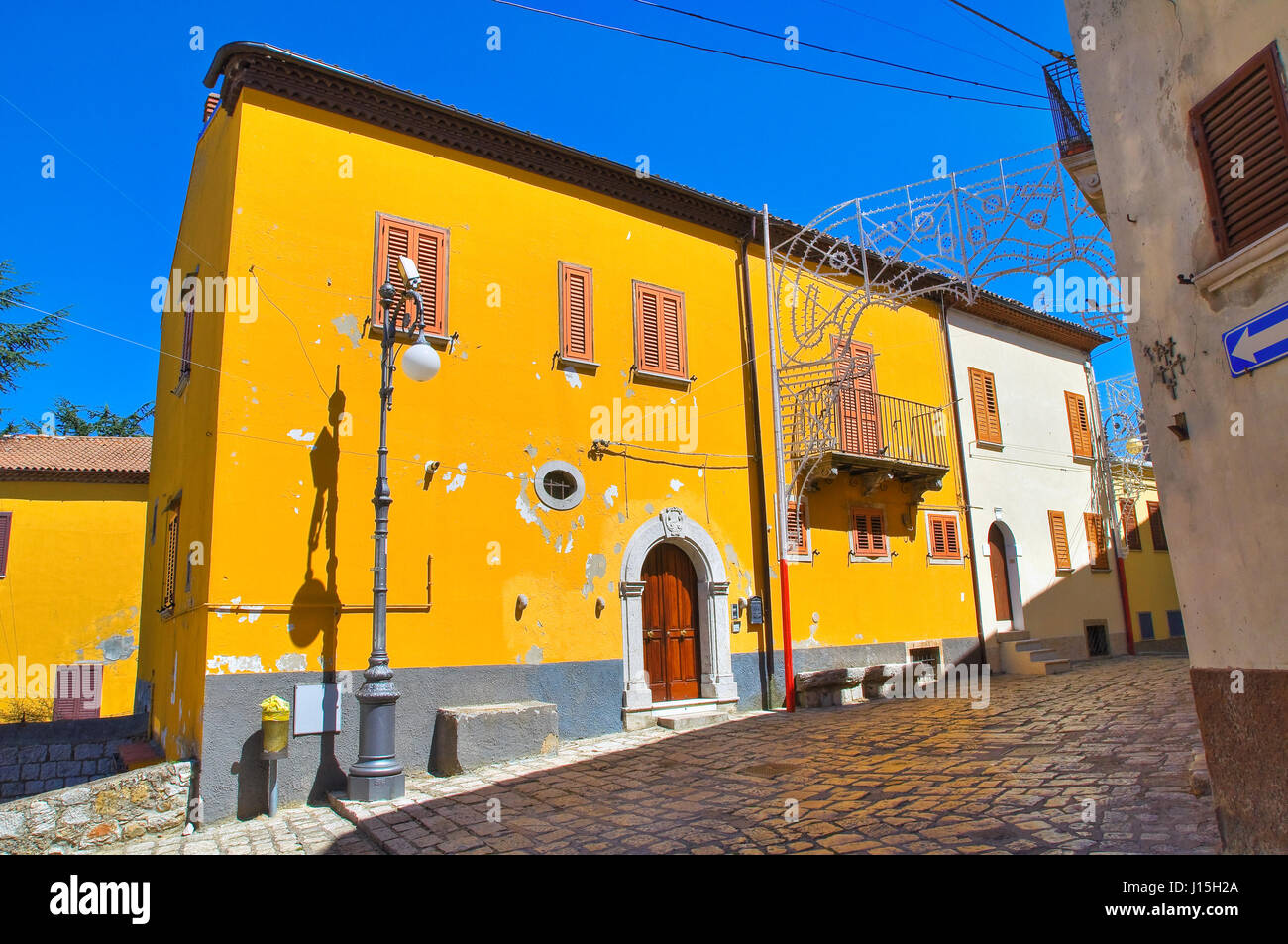 Alleyway. Pietragalla. Basilicata. Italy. Stock Photo