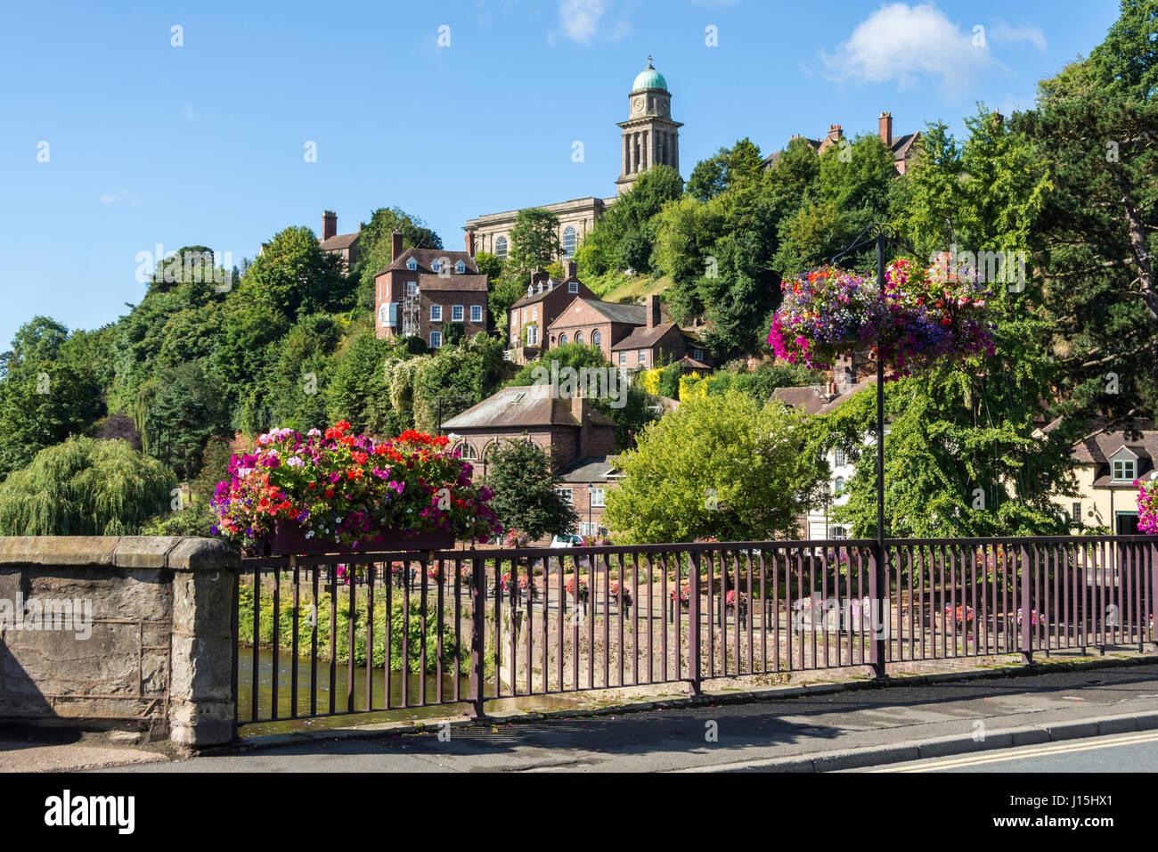 Bridgnorth from the bridge, Shropshire, England, UK. - Stock Image