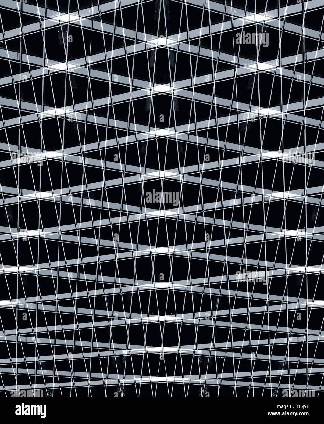industrial pattern in black - Stock Image