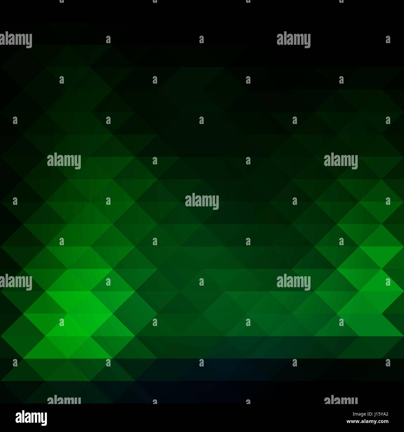 Glowing Neon Green Abstract Geometric Background With Rows