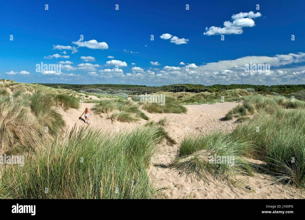 Formby Point and sand dunes. - Stock Image
