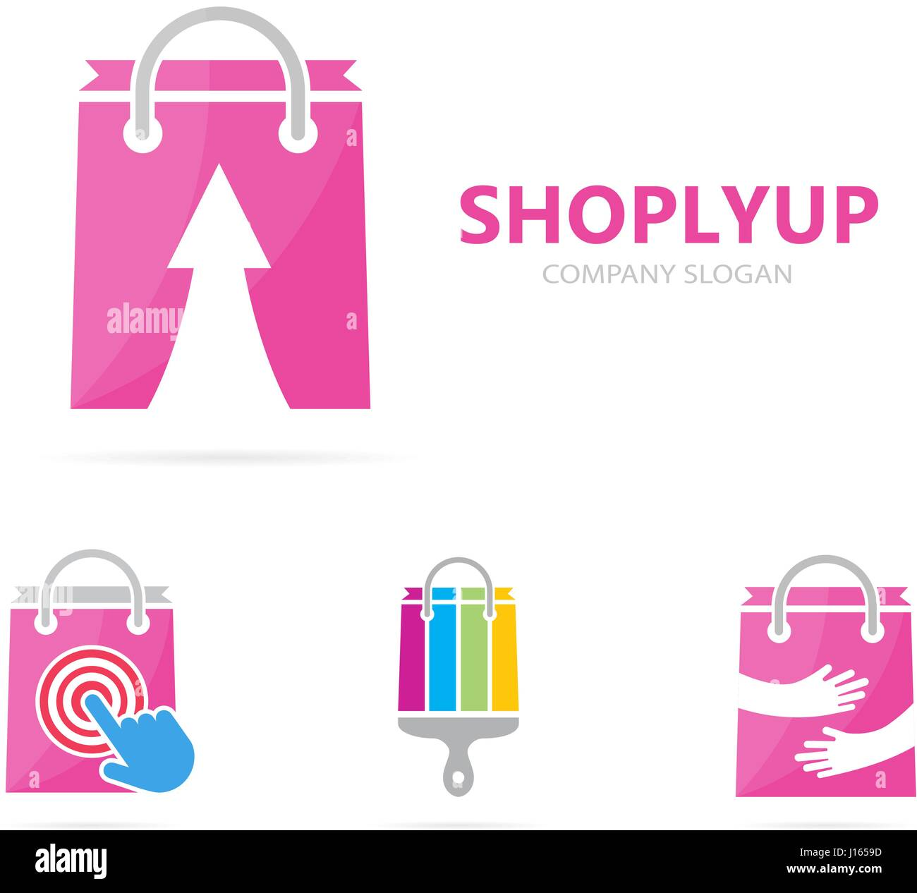 Vector Of Shop And Arrow Up Logo Combination Sale And Growth Symbol