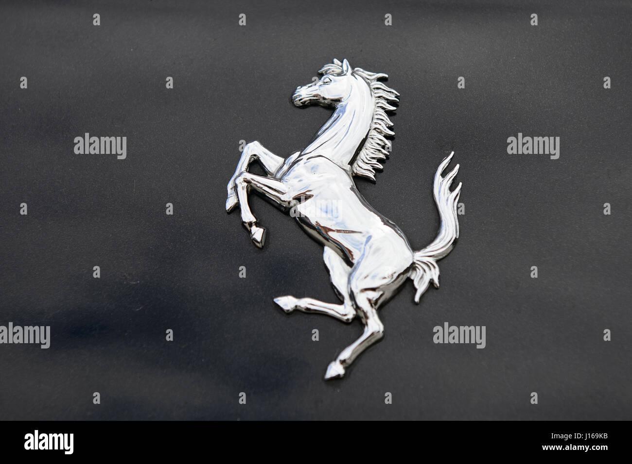 Meeting of Ferrari cars, 70th anniversary - Stock Image