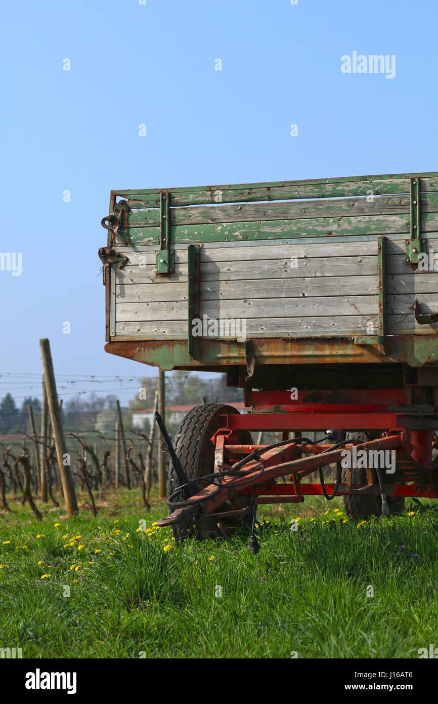 Anhänger Traktor - Stock Image