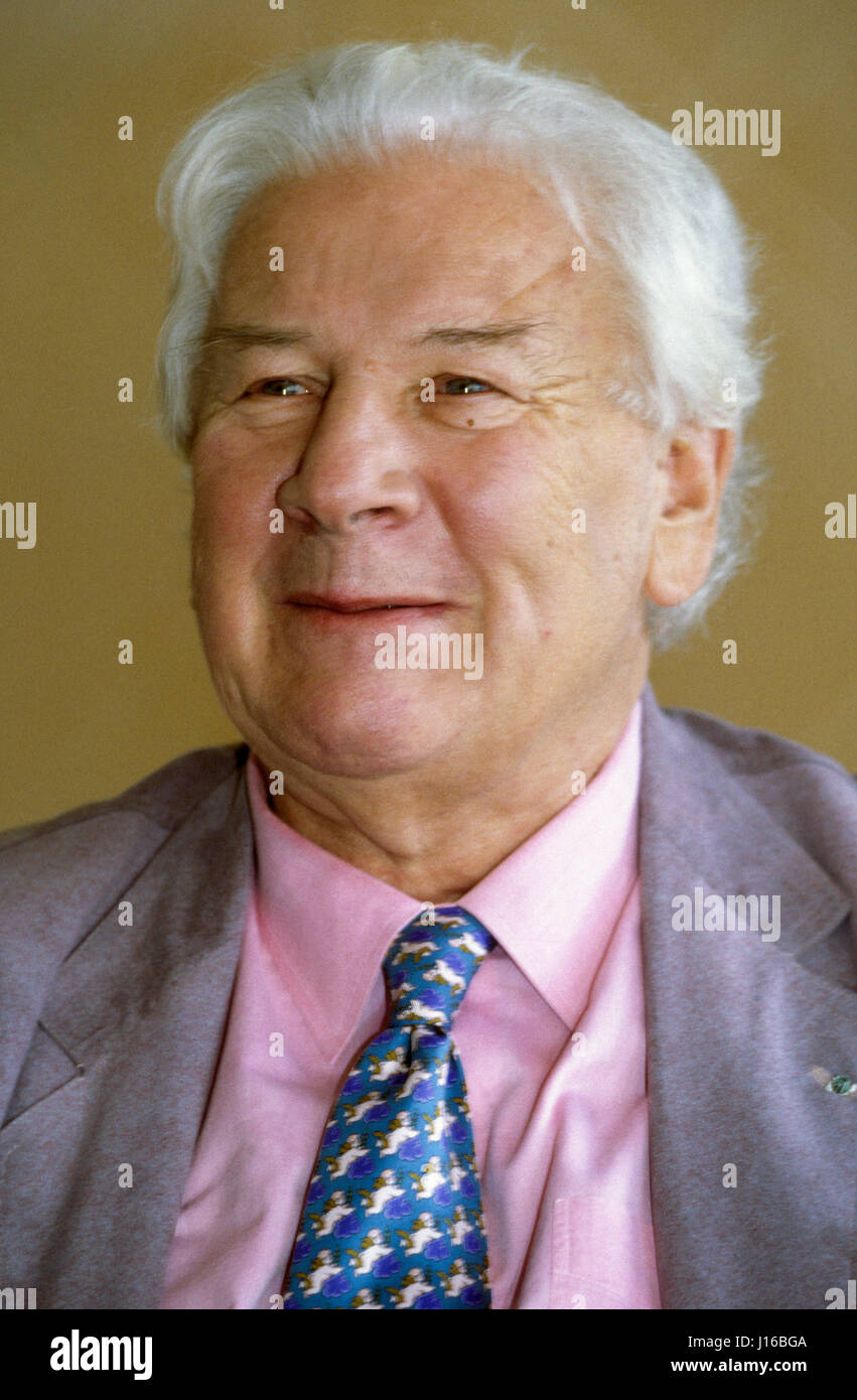 PETER USTINOV British actor 1993 UNICEF ambassador - Stock Image