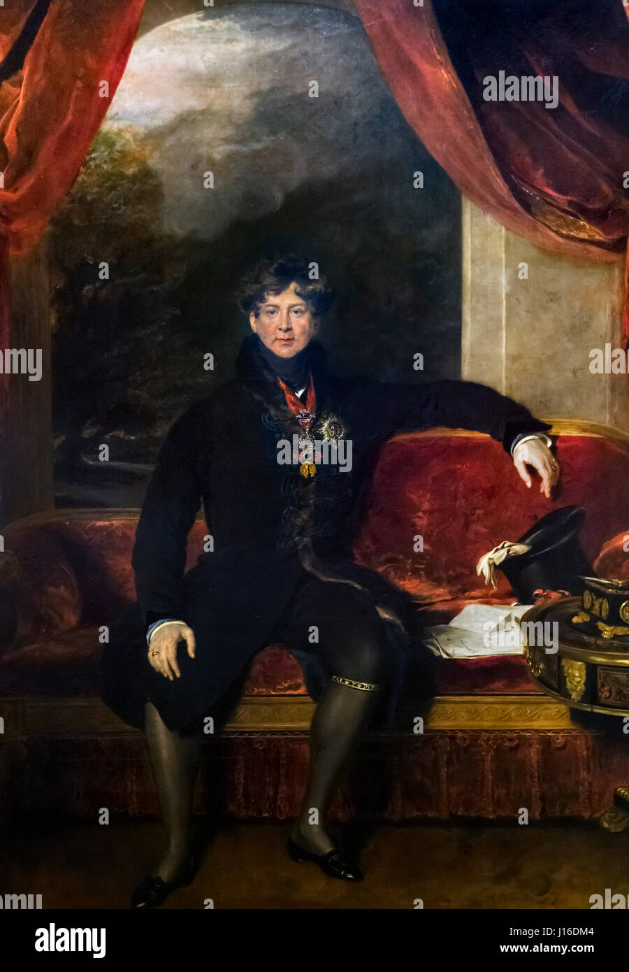 George IV. Portrait of King George IV by Sir Thomas Lawrence, oil on canvas, 1822 - Stock Image