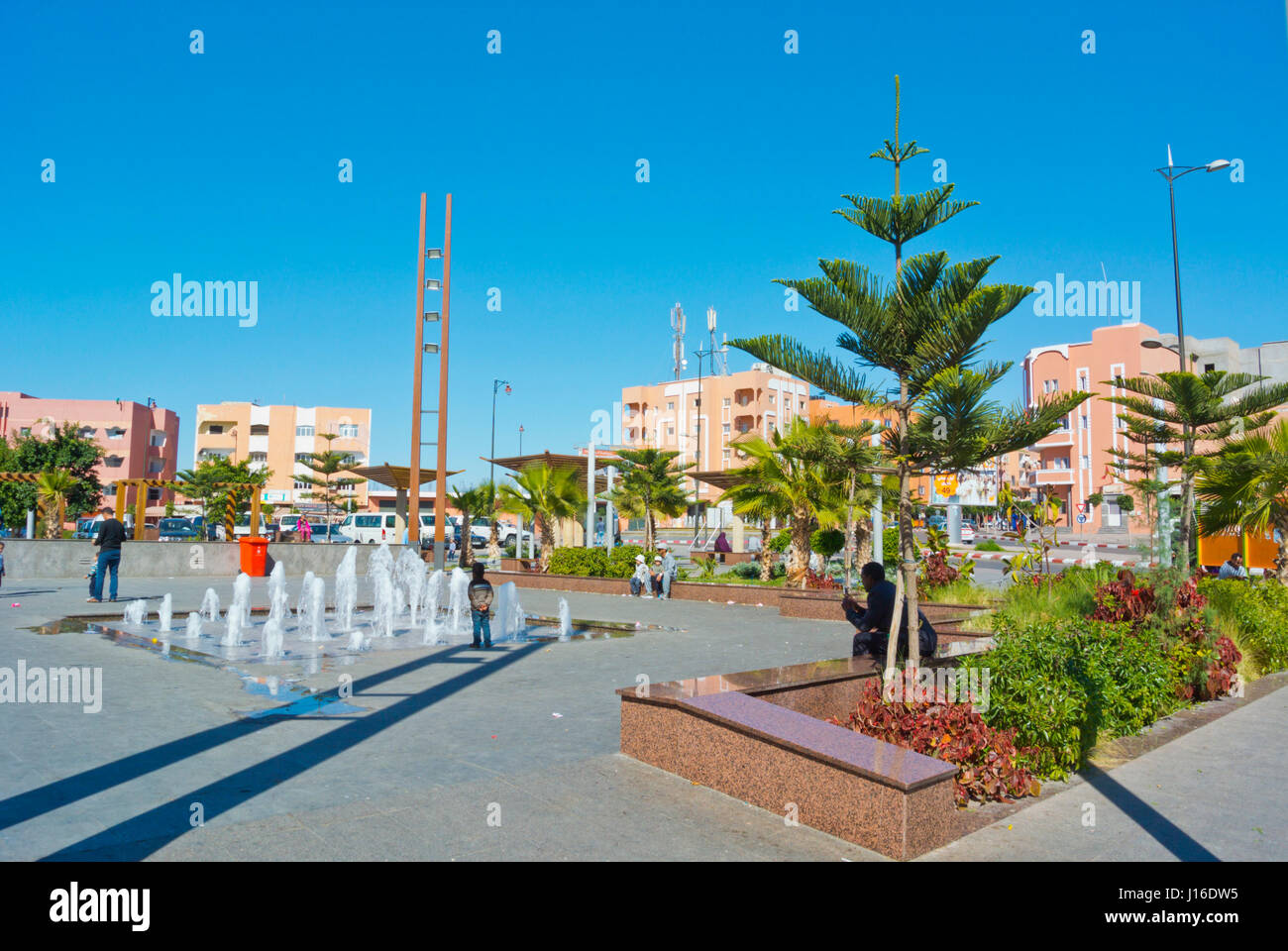 Place de la Resistance, Laayoune, El Aioun, Western Sahara, administered by Morocco - Stock Image