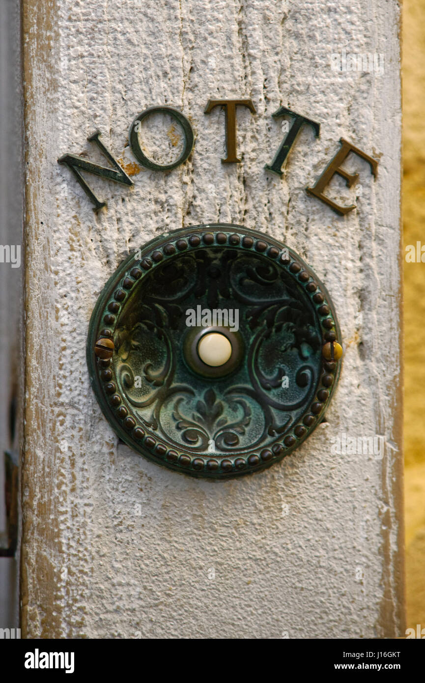 Antique Door Bell Button, Aged And Rusty