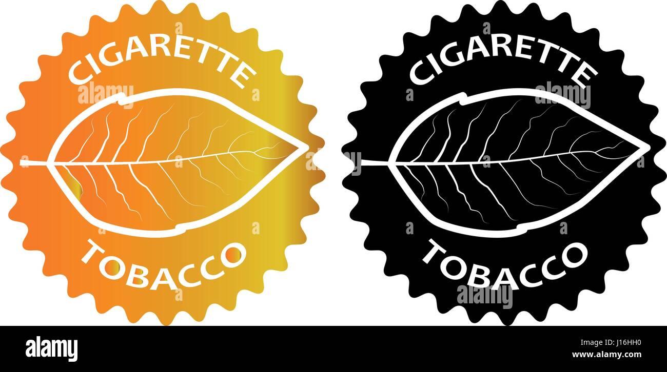 tobacco - cigarette - sticker - vector illustration - Stock Vector