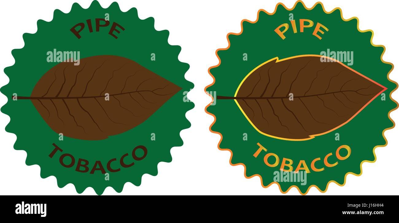 tobacco - pipe - sticker - vector illustration - Stock Vector