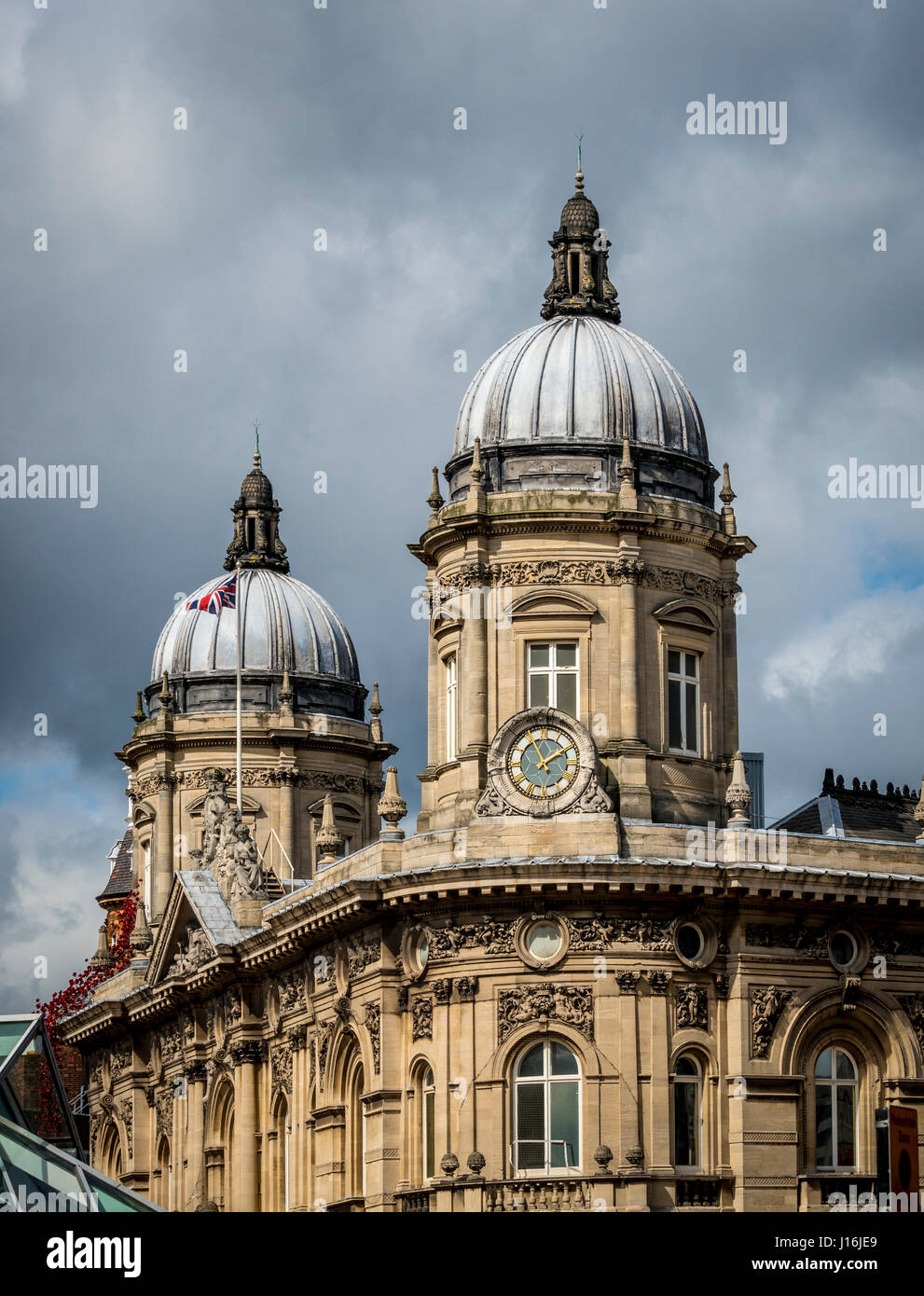 Roof of Maritime Museum with clocktower, Hull, UK. - Stock Image