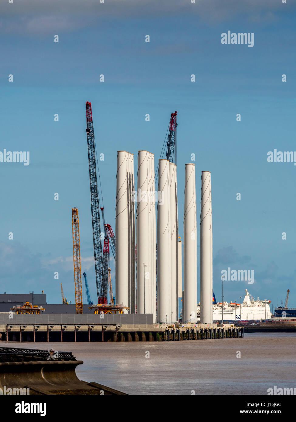Siemens Blade Factory, Alexandra Dock, Hull, UK. Stock Photo