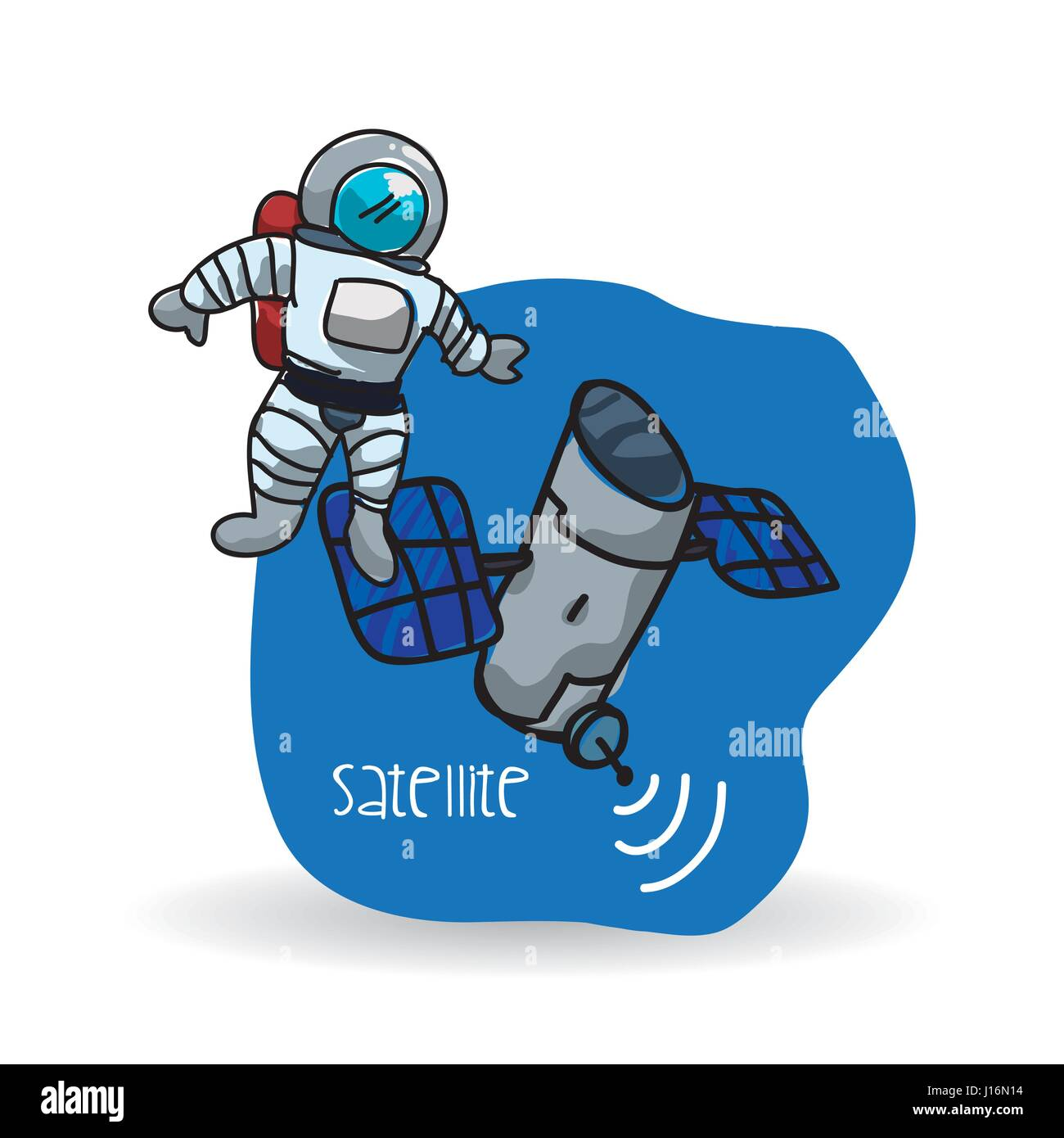 Space design. science icon. Isolated illustration , vector - Stock Image
