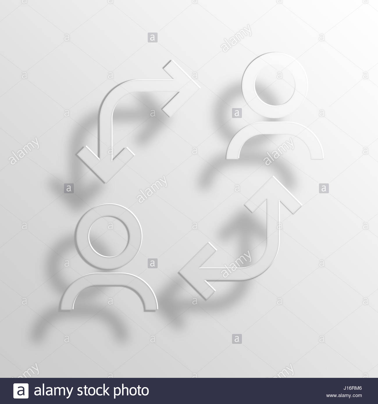 switch 3D Paper Icon Symbol Business Concept No.7040 Stock Photo ...