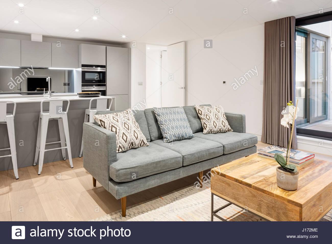 Living room. Formal - North End Road, London, United Kingdom Stock ...