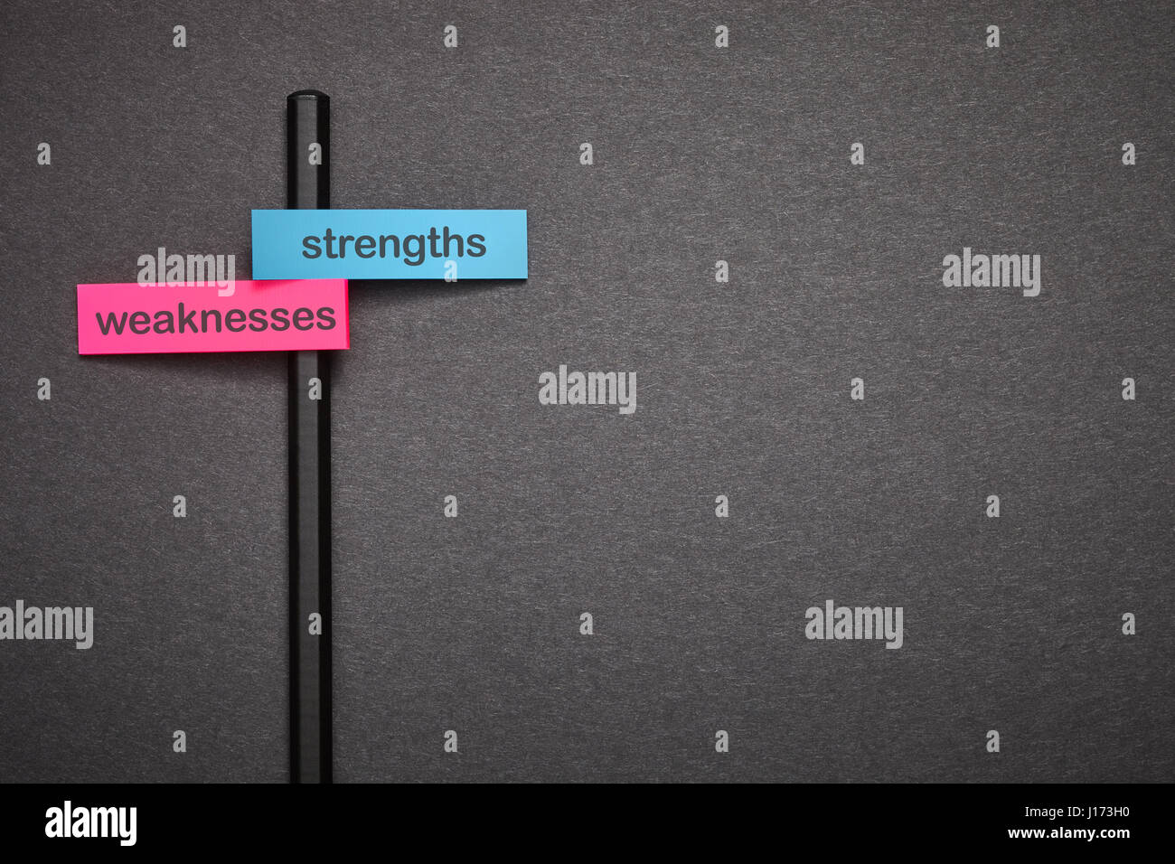 strengths weaknesses - Stock Image