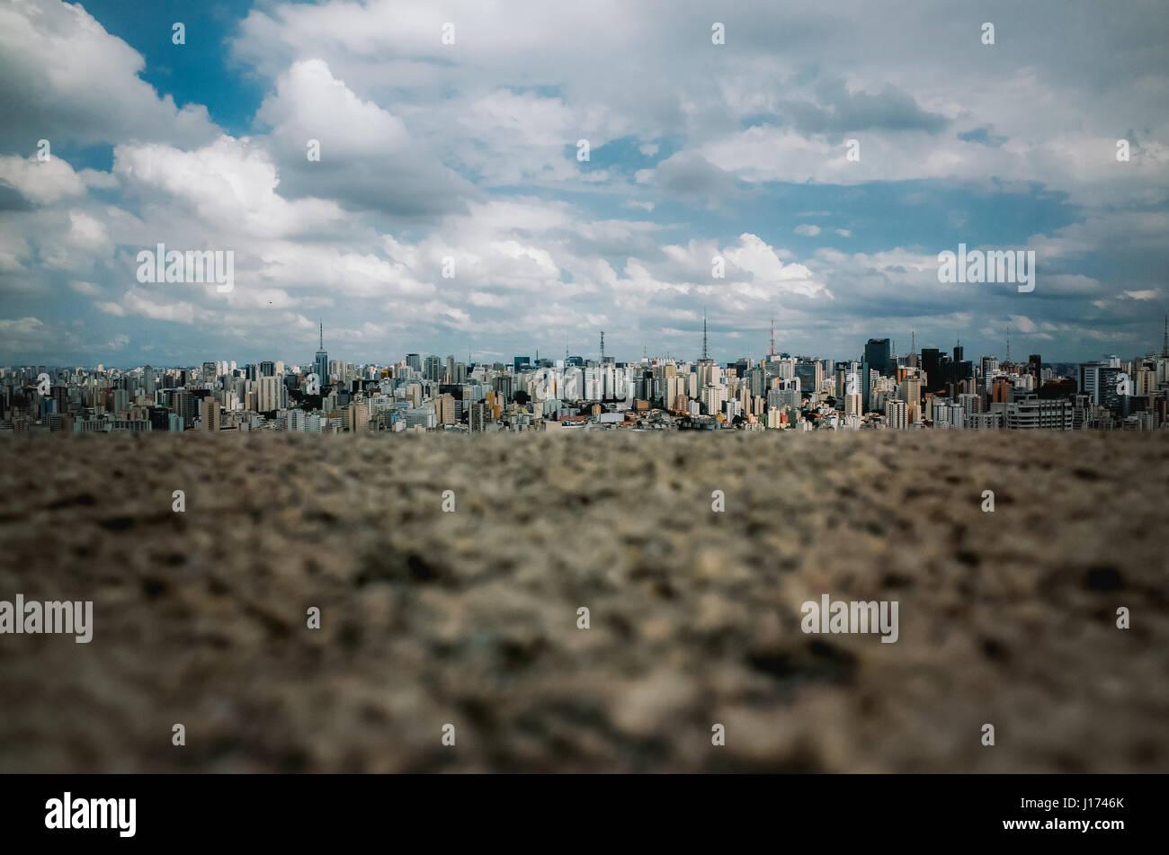 Skyline of the city of São Paulo, Brazil, seen from Edifício Itália - Stock Image