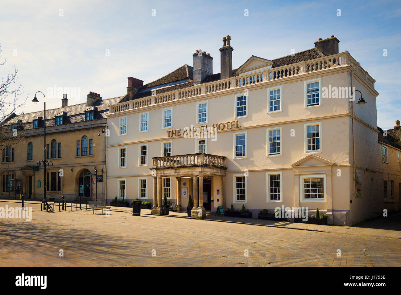 The Angel Hotel in the centre of Chippenham Wiltshire England UK - Stock Image